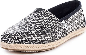 Toms Womens Womens Classic Woven Rope Pumps in Black - UK 4