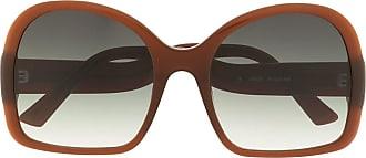 George Keburia Óculos de sol quadrado oversized - Marrom