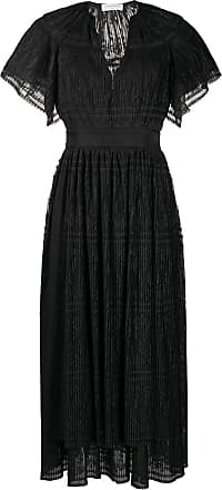 Sandro Charlene pleated-lace dress - Black