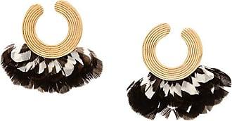 Gas Bijoux Par de brincos Feather - Dourado