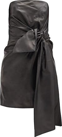 16Arlington Matsuko Knotted-front Leather Bandeau Dress - Womens - Black