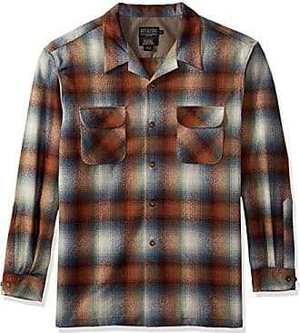 Pendleton Mens Classic Fit Long Sleeve Board Shirt, sea Grass Ombre, MD