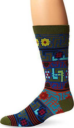 Ozone Mens Byzantine Elements Sock, Fougere, Sock Size:10-13/Shoe Size: 6-12