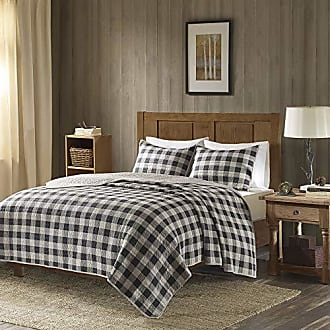 Woolrich Buffalo Check King/Cal King Size Quilt Bedding Set - Gray, Checker Plaid - 3 Piece Bedding Quilt Coverlets - 100% Cotton Bed Quilts Quilted Coverlet
