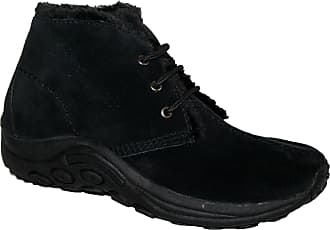 Northwest Territory Ladies Winter Snow Warm Walking Fully Fur Lined Ankle Boot with Tread Sole Black 3