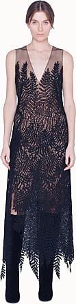 Akris Wool Dress in Fern Embroidery