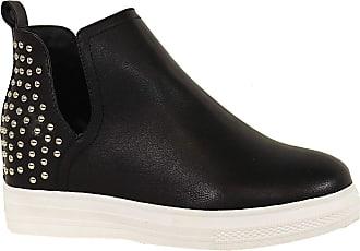 Yoki Womens DEMIAN-23 Sneaker, Black, 4.5 UK