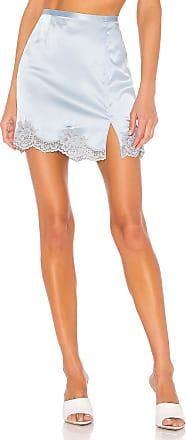 Fleur du Mal James Lace Slip Skirt in Baby Blue
