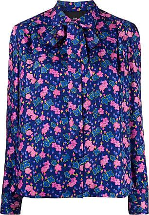 Marc Jacobs Camisa de seda com estampa floral - Azul