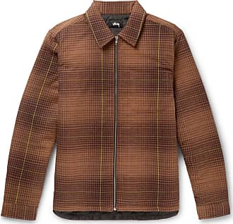 Stüssy Checked Cotton-flannel Shirt Jacket - Brown