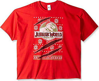 Universal Works Mens Big and Tall Jurassic World Claw Ugly Christmas T-Shirt B&t, Red, 3XL