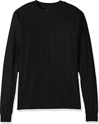 Hanes Mens Beefy Long Sleeve Shirt, Black, 3XL