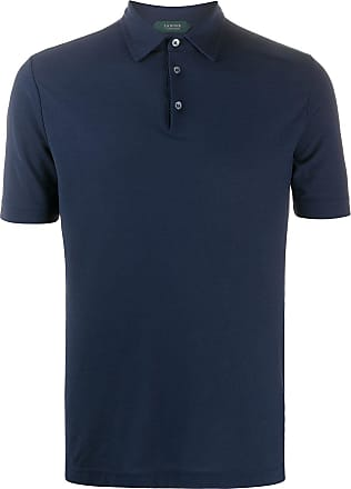 Zanone short-sleeved polo shirt - Blue