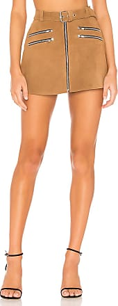 Understated Leather x REVOLVE Mini Zip Skirt in Brown