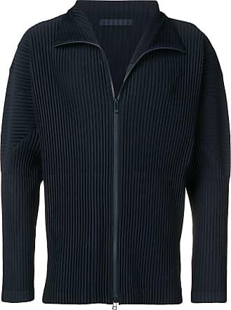 Homme Plissé Issey Miyake ribbed zip sweatshirt - Blue
