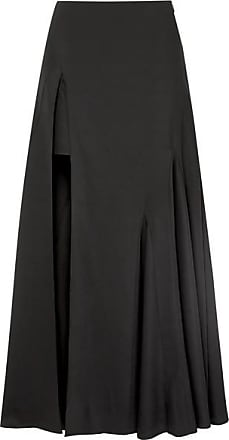 Jacquemus Faya Asymmetric Crepe Maxi Skirt - Black