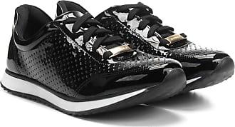 Via Uno Tênis Jogging Via Uno Verniz Laser Cut Feminino - Feminino 9f0df71e413ac