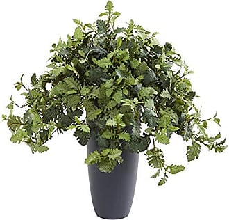 Nearly Natural 8728 31 Dusty Miller Artificial Gray Planter Silk Plants Green