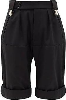 Raf Simons Clip-waist Wool-twill Shorts - Womens - Black