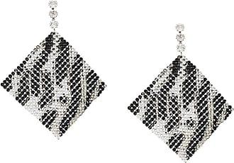 Isabel Marant Par de brincos Nile com aplicação de cristais - Preto
