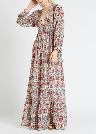 8118c3fbe56 Antik Batik Robe longue décolletée imprimée en coton