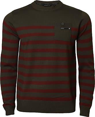 Mens Jumper Brave Soul /'Nova/' Knitted Crew Neck Sweater Chunky Pullover
