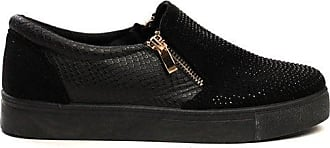 Ikrush Leah Slip On Embellished Trainers Black UK 8