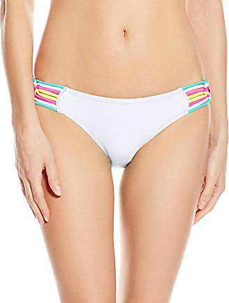 c113816f1b Jessica Simpson Womens Love Me Knot Macrame Side Hipster Bikini Bottom,  White, Large