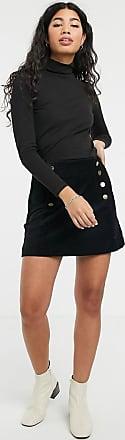 People Tree Mini-jupe en velours-Noir