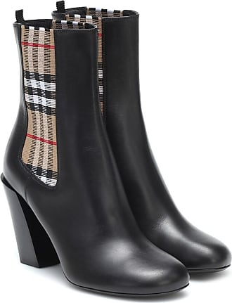 Burberry Vintage Check leather ankle boots