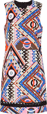 Emilio Pucci Printed stretch-cotton shift dress