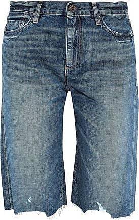 a6a140782 Simon Miller Simon Miller Woman Gannett Distressed Denim Shorts Mid Denim  Size 24