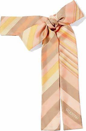 Valentino Valentino Woman Striped Silk-twill Scarf Peach Size