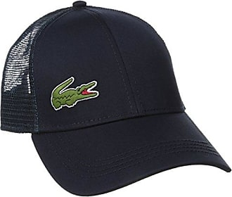8faad3bc73 Lacoste Mens Sport Gabardine and Mesh Tennis Cap, Navy Blue, One Size
