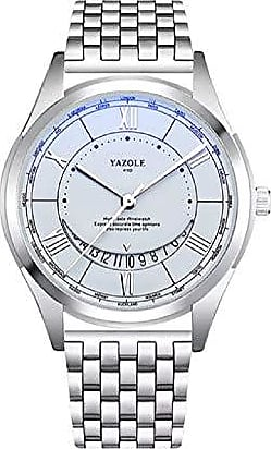 Yazole Relógio Masculino de Luxo Yazole D410 Pulseira de Aço e Couro (1)