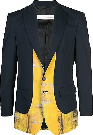 Isabel Benenato print panel blazer - Blue