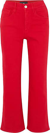 3x1 W4 Shelter Cropped High-rise Flared Jeans