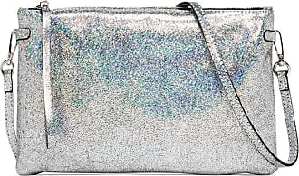 Gianni Chiarini hermy large silver clutch bag