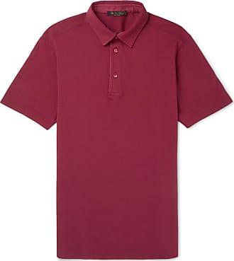Loro Piana Cotton-piqué Polo Shirt - Red