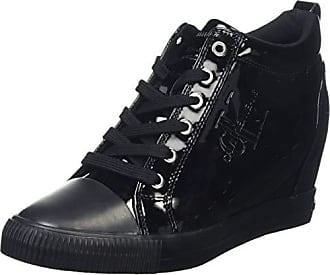 55446966623414 Calvin Klein Jeans Ritzy Patent, Baskets Hautes Femme, Noir (Black 000),