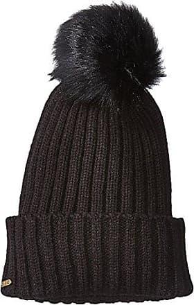 a5aa4cead08 San Diego Hat Company Womens Rib Knit Beanie with Cuff and Faux Fur Pom