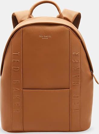 Ted Baker Debossed Travel Backpack in Tan SNACKED, Mens Accessories