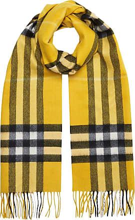 Burberry Cachecol The Classic Check de lã - Amarelo