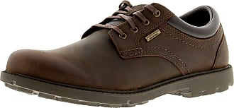 Rockport Storm Surge Oxford Mens Leather Material Casual Shoes Tan - 10 UK