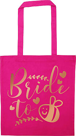 Flox Creative Pink Tote Bag Rose Gold Bride to Bee