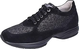 Liu Jo Baby-Girls Suede Black Fashion-Sneakers 2 UK Child