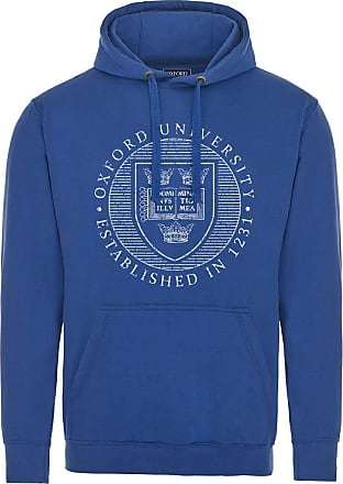 Oxford University Official Distressed Crest Hoodie - Royal Blue - Medium