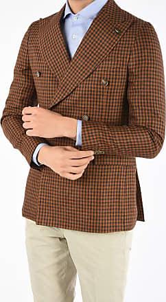 Corneliani CC COLLECTION giacca REWARD doppiopetto in lino taglia 50