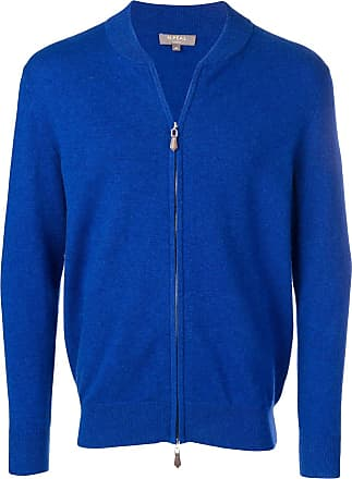 N.Peal knitted bomber jacket - Blue