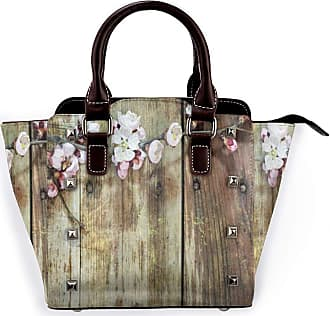 Browncin Rustic Stained Walnut Branch With Soft Twiggy Swirling Flowers Leaves Detachable Fashion Trend Ladies Handbag Shoulder Bag Messenger Bags